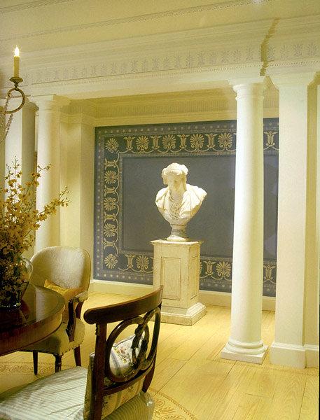 PolyStone® Columns flank a Bust