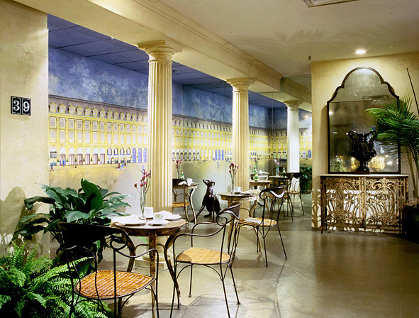 Fluted Tuscan PolyStone® Columns in Restaurant
