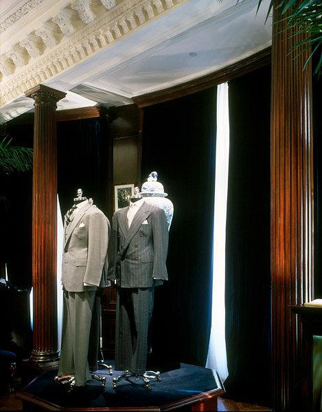 Fluted Stain-Grade Doric Columns in a Retail Establishment