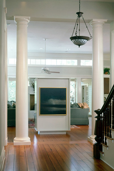 Tuscan Columns in Foyer and Living Room