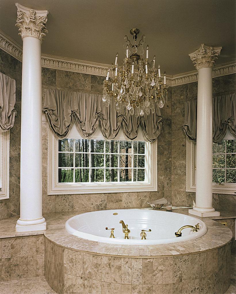 Smooth Corinthian Columns by a Bath