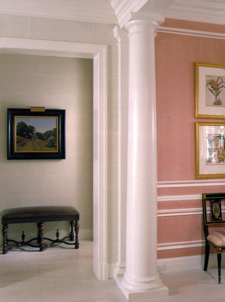 Doric Column in Foyer