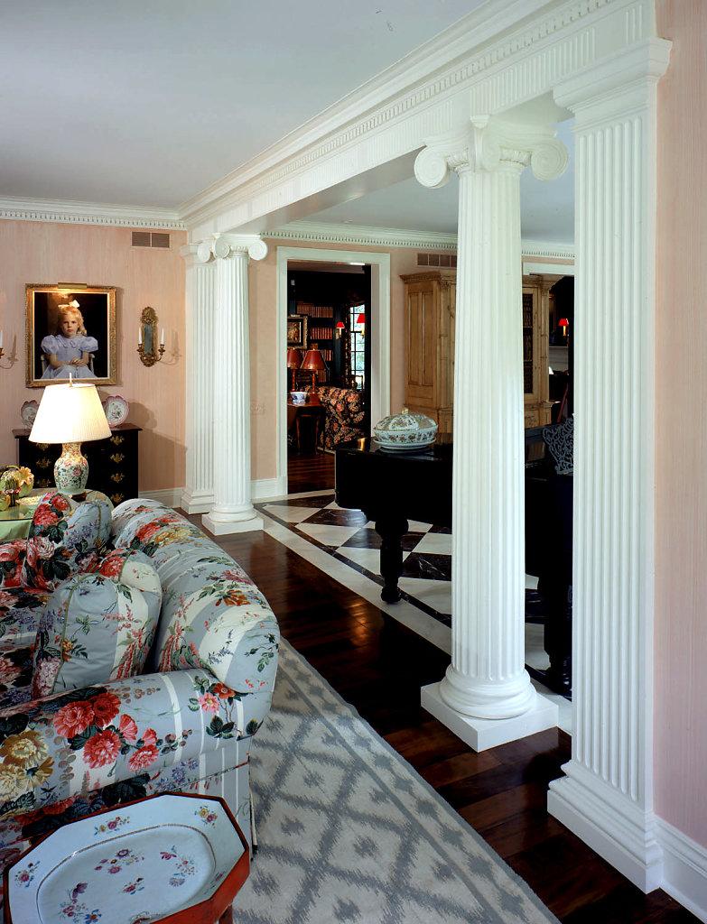 Scamozzi Columns in Living Room
