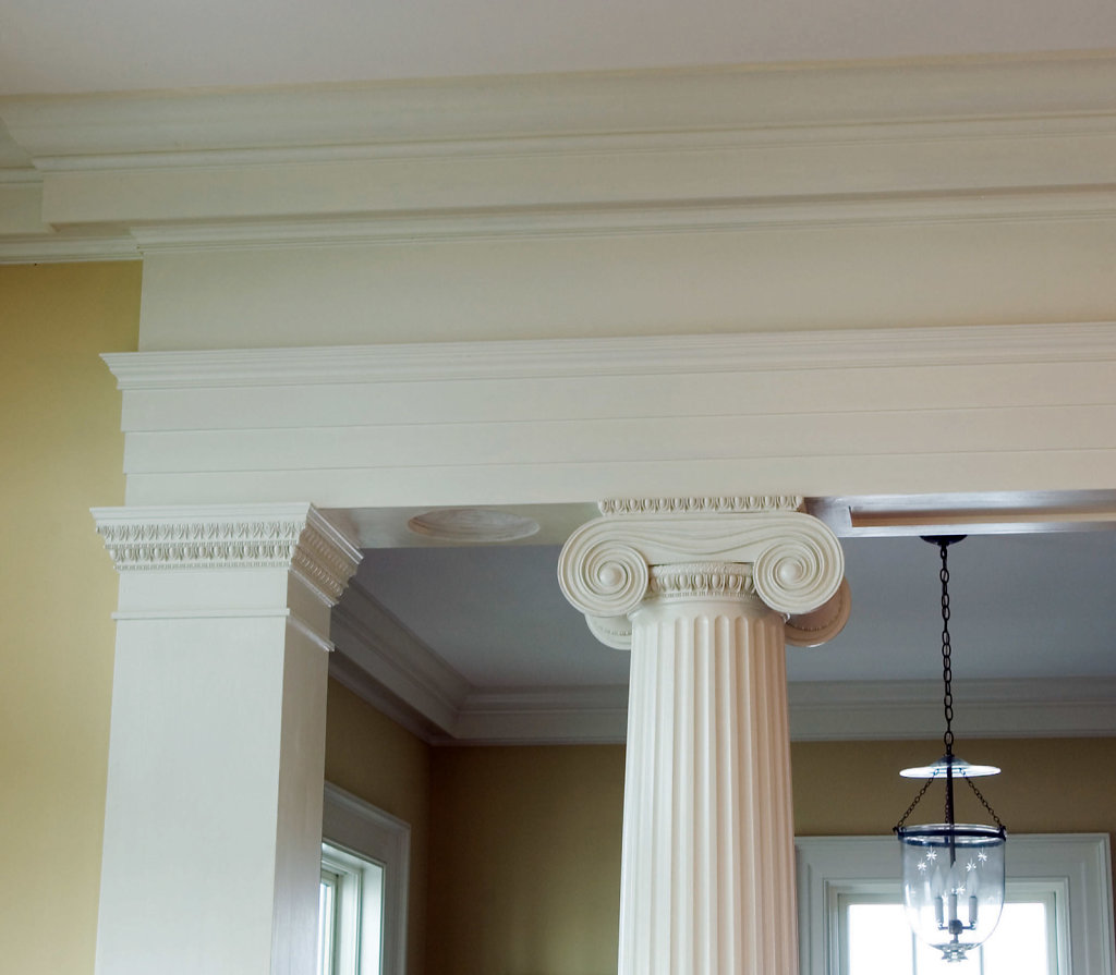 Ionic-style Capital and Entryway Molding in Chadsworth Cottage
