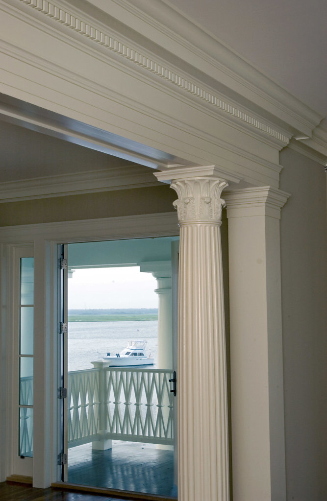 Fluted Corinthian Column in Chadsworth Cottage