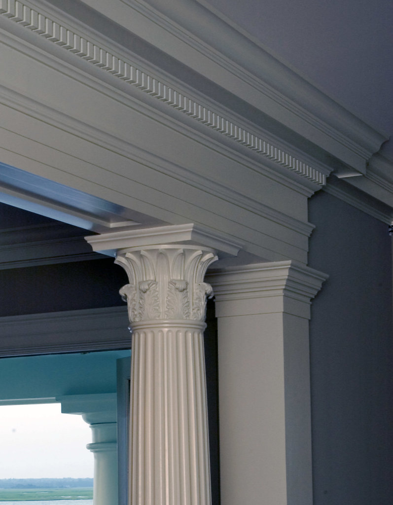 Fluted Corinthian PolyStone® Column in Chadsworth Cottage