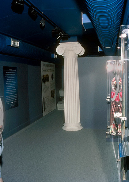 A Fluted Ionic Column in a Museum