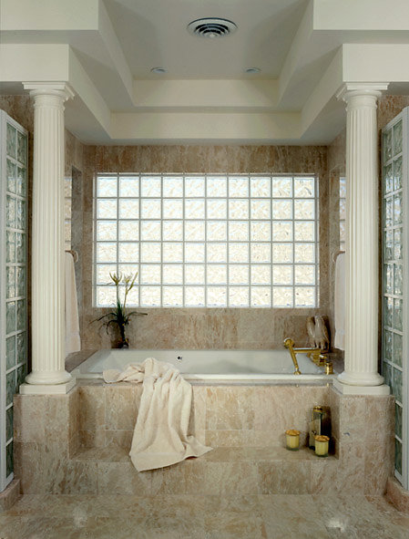 Fluted Tuscan Columns on a Bath
