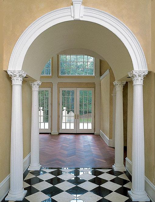 Corinthian Columns in Archway Foyer