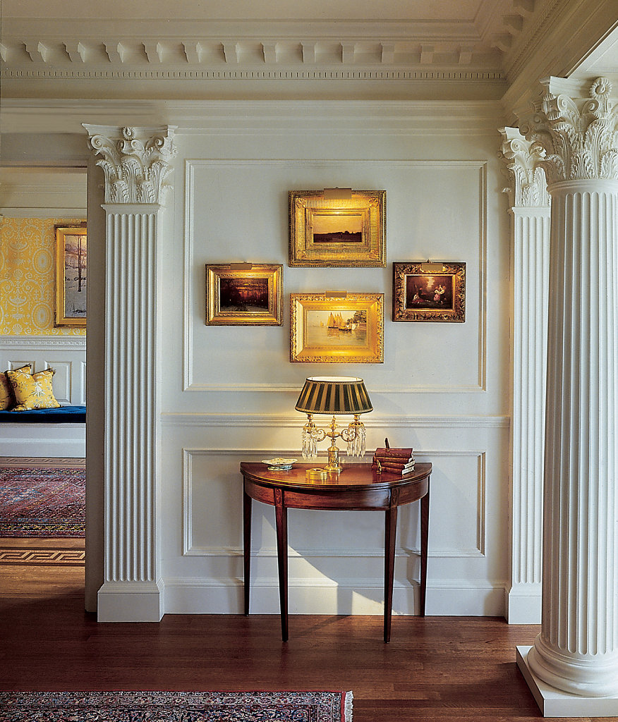 Fluted Corinthian Column and Pilasters