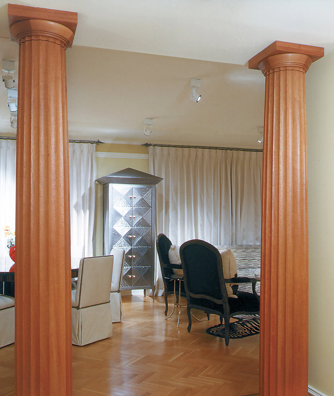 Stain Grade Fluted Doric Columns