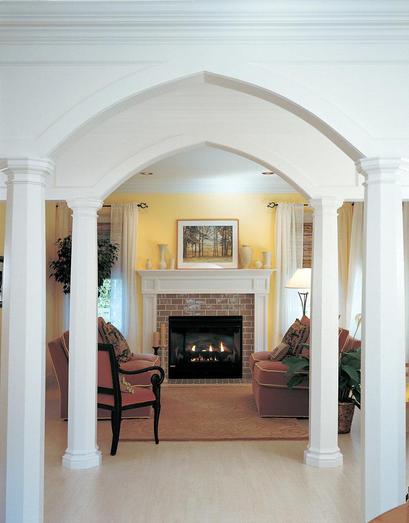Octagonal Columns under Arches in Foyer