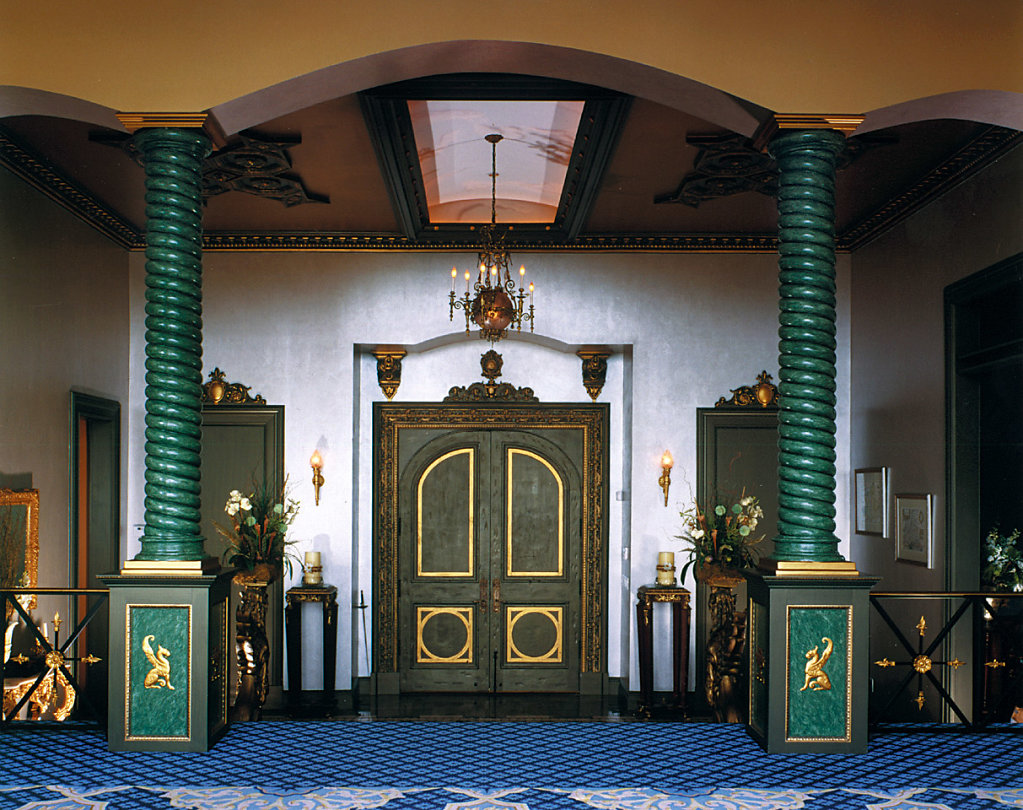 Green Spiral, Rope-Twist Columns in Foyer
