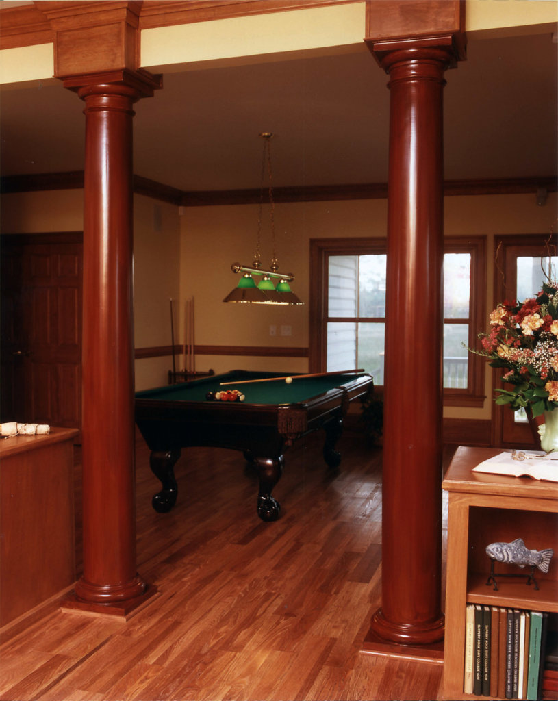 Tuscan Capitals in Billiard Room