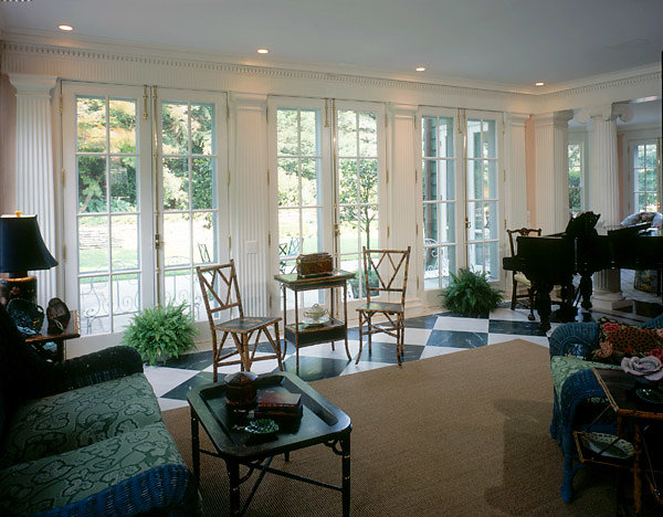 Fluted Pilasters in a Florida room
