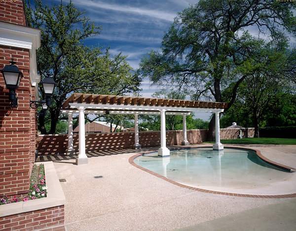 Pergola and Columns in Courtyard